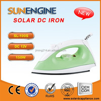SL-100T 12V DC Solar Iron Box -150W Temperature Adjustable China TOP 1 12V DC Electric IRON Appliance Manufacturer