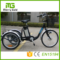 24 inch electric tricycle china/ new electric vehicle/ 3 wheel trike bike