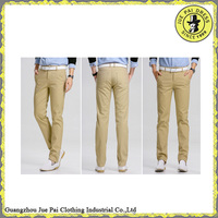 Casual Design Khaki Men Cotton Chino Pants