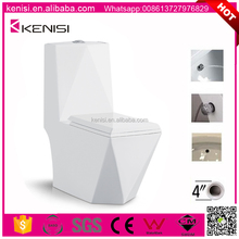 Washdown 4 inch One Piece Toilets With Built-in Bidet