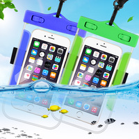 Universal Waterproof Mobile Phone Pouch Case For iPhone 5 6 7 for Samsung S7 Edge Beach Underwater Diving Cell Phone Bag Case