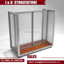 H style clothing gondola with upright for sport stores