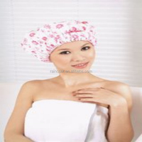 printed satin shower cap