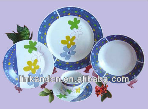 KC-00542 ceramic plate ,bowl ,funny kitchen set