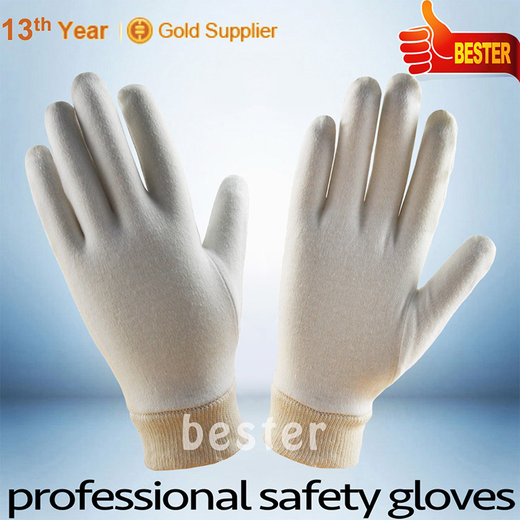 China gold supplier hotsell pvc dots white cotton grip gloves