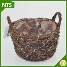 NTS Housing Rattan Basket Seed Planter For Flower Planter