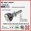2015 NSSC Newest Original Design led h4 headlight 45W, cree car led headlamp h7/h8/H10/9005/9006 led car headlight