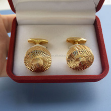 hot sale brass exquisite high-end men's cufflinks for wedding giveaway