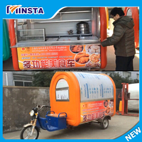 mobile motorcycle food service cart trailer with wheels