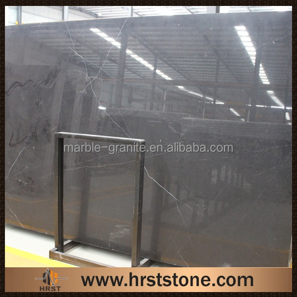 Cheap price Chinese polished negro marquina marble slab