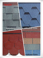 colorful asphalt shingles roof tile for building material