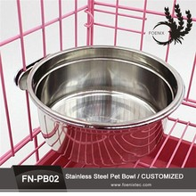 8 Sizes wholesale high quality detachable dual antiskid Stainless steel double round pet bowl