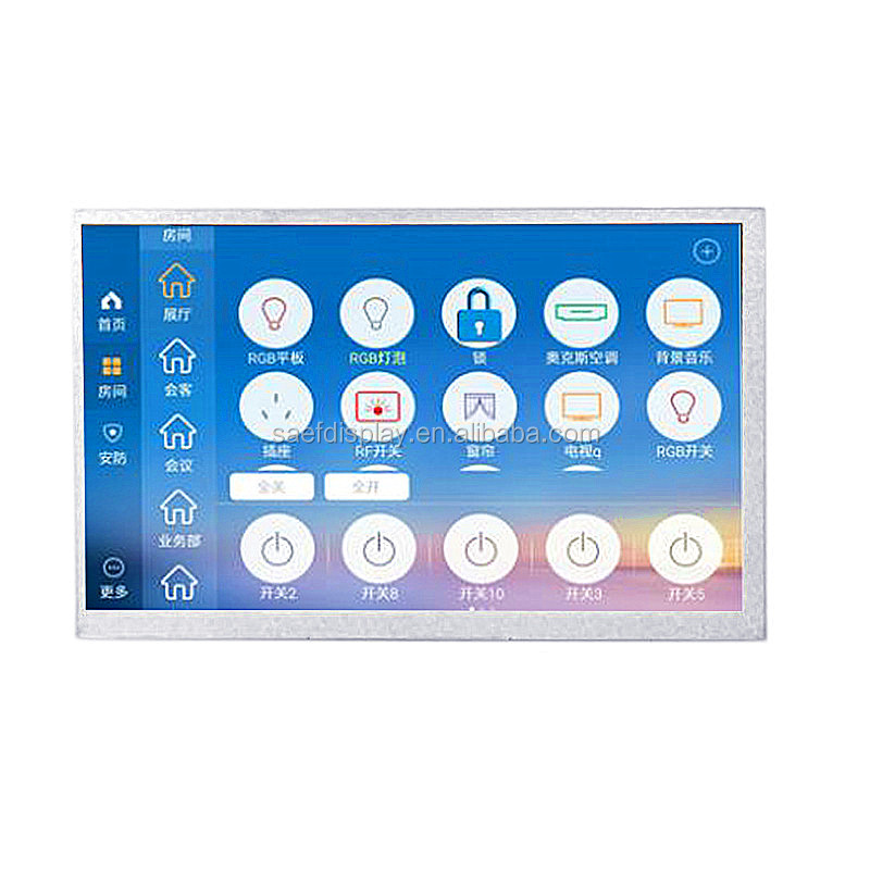 Shenzhen factory supplier OEM/ODM 7 inch LCD TFT module rs232/rs485/ttl/800xRGBx480 LCD screen display for industrial field
