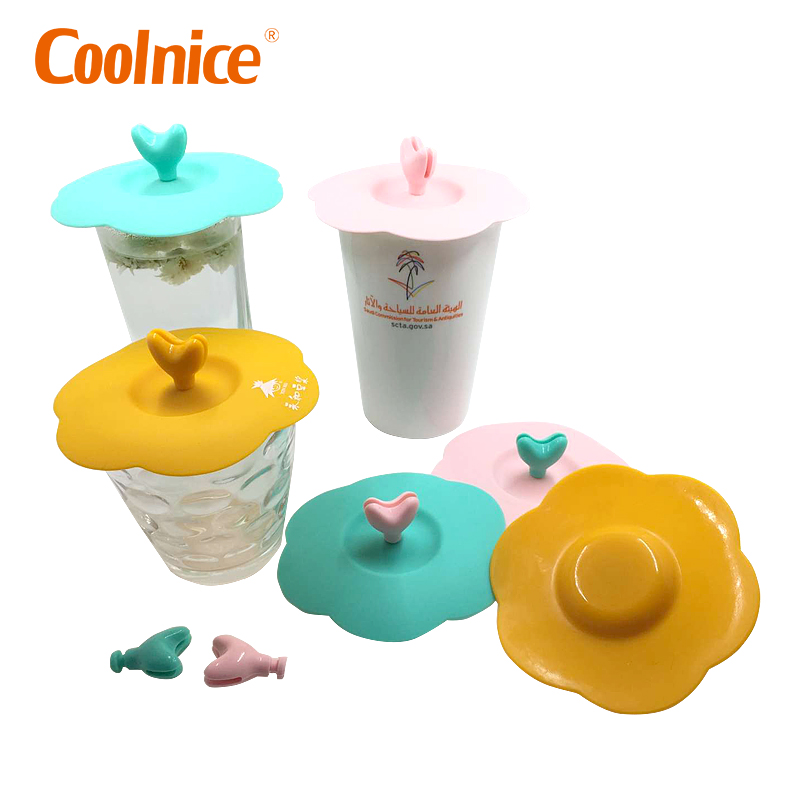 Universal Durable Food Grade Suction Cover Silicone Cup Lid