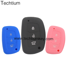 silicone car key cover for Hyundai 3 button smart key cover
