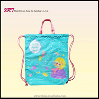 Printed Cotton Personalized Drawstring Bag