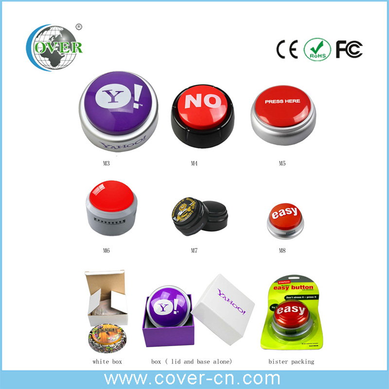 Recordable sound voice easy button for fridge