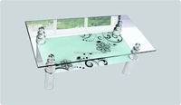 2016 Hot Sale Alibaba Glass And Wrought Iron Coffee Table