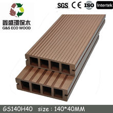 waterproof hollow wpc composite decking china /WPC decking Manufacturer China