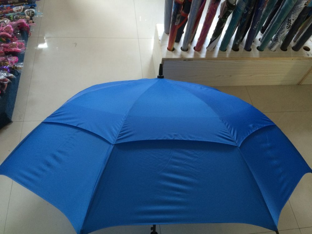 Full FRP frame and shaft Double Layer Golf Umbrella