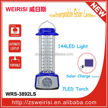 144LED Rechargeable Solar Fishing Light (WRS-3892LS)