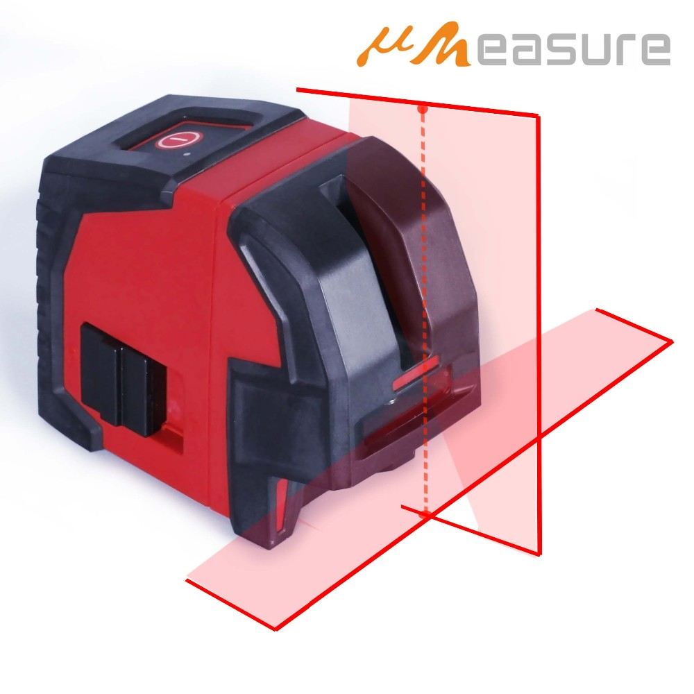 Laser Land Leveling with 2 Lines and 2 Points Cross Line Red Beam