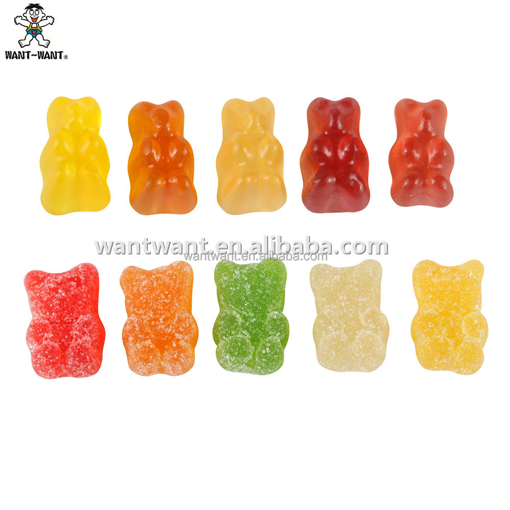 Gummy Bear Fruit Candy Sour Gummy Bear Gold Bear Vitamin Added