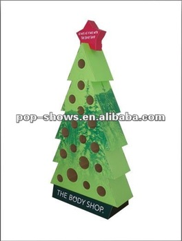 Christmas tree shape cardboard display