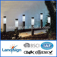 2015 new solar plastic lights new year plastic outdoor light cover Cixi Landsign XLTD-912 outdoor landscape lighting