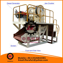 China No.1 PE Mining Small Gold ore Crusher Machine / Small portable rock ore crusher / portable stone equipment