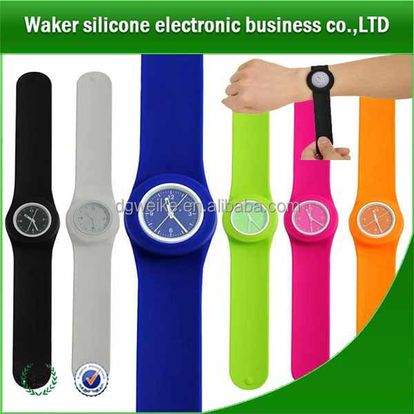 christmas gift kids promotional silicone kids slap band watches