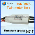 Twin motor RC boat brushless ESC 300a