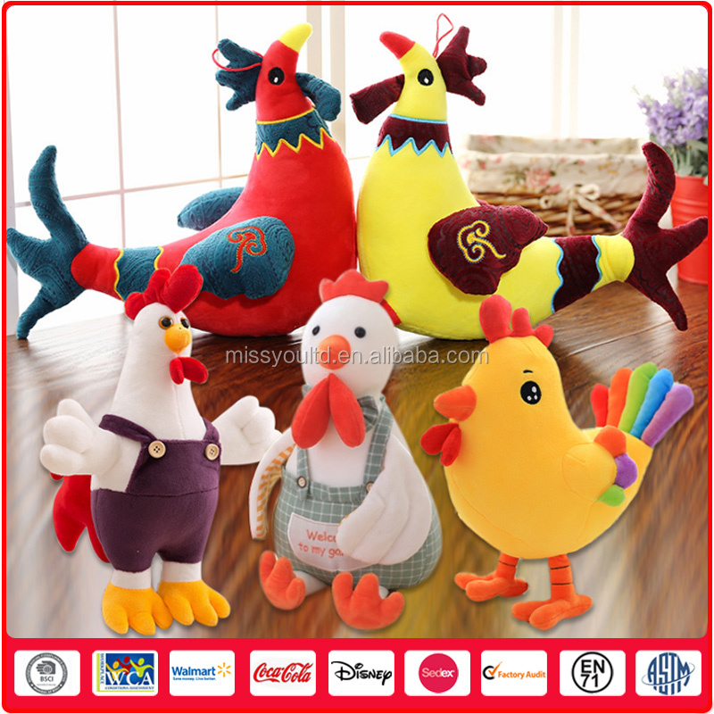 Spot Wholesale Various Soft Toy Animal Factory Plush Chicken Toy
