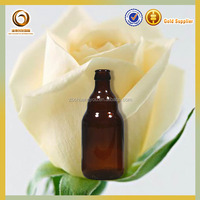 Wholesale crown top amber glass beer bottle/juice bottle