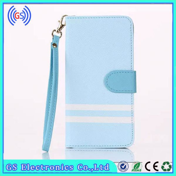 Credit Card Holder Case For Samsung Galaxy Note 3 Magnetic PU Leather Dual Color Wristlet Wallet Case For Note 3