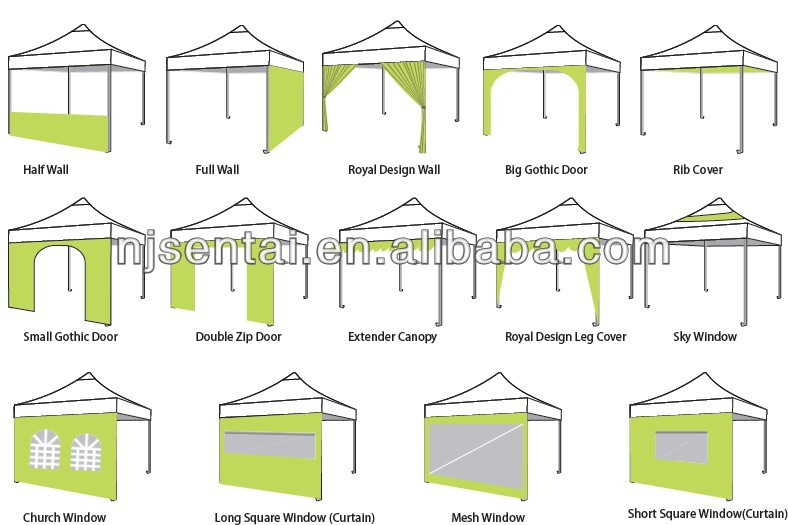 2014 folding tent 4x8/car roof tent for sale/PVC tent