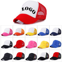 5ACP009 Advertising promotional product new designs custom curved brim cotton trucker cap