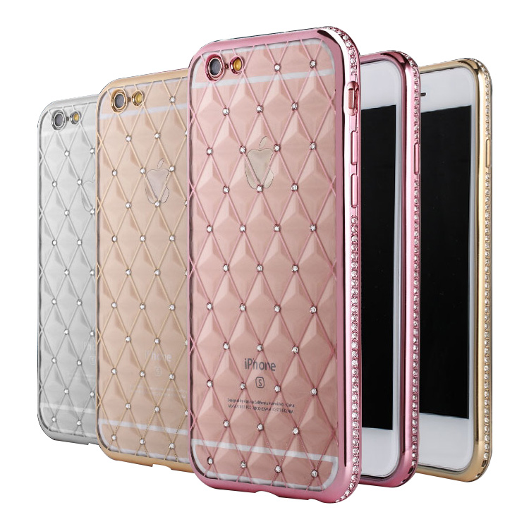 Shining Crystal For iPhone 5 5S case, Transparent TPU diamond case for Apple iPhone5 5S