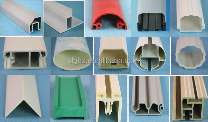 custom-made plastic extrusion profiles for Christmas gift accessories with all kinds of color