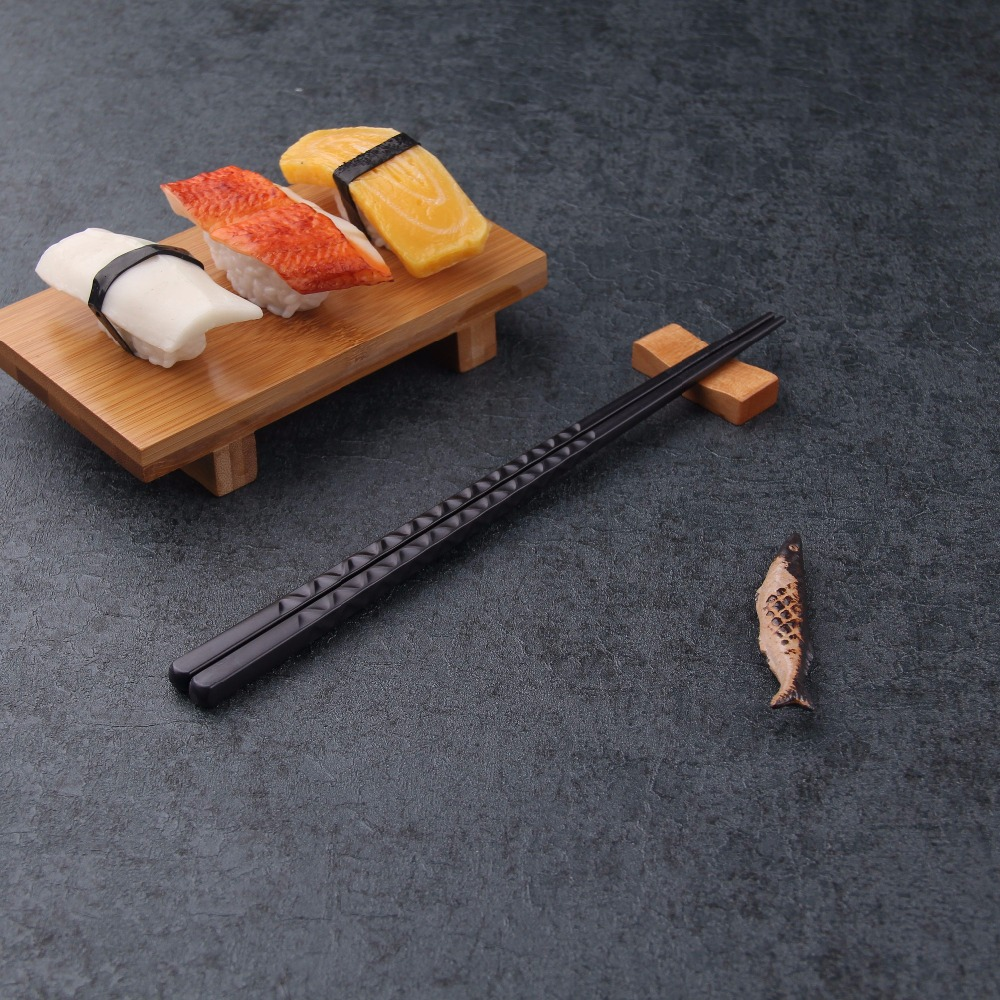 KMD FDA LFGB ROHS Japanese black plastic chopsticks