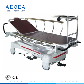 AG-HS005 luxurious with leather cover surface radiolucent patient hospital stretcher prices
