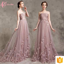 Pink A Line Lace Applique Robe De Soiree Evening Dresses For Fat Women