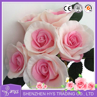PU flower rose artificial bridal bridal bouquet for wedding decoration