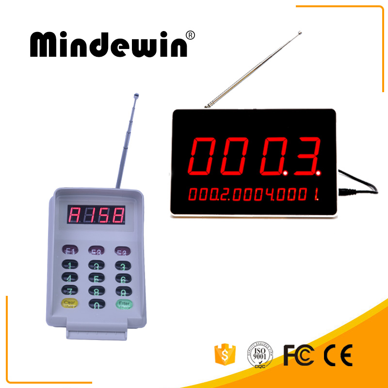 Mindewin Restaurant LED Display Receiver Pager Waiting Wireless Queue Number System