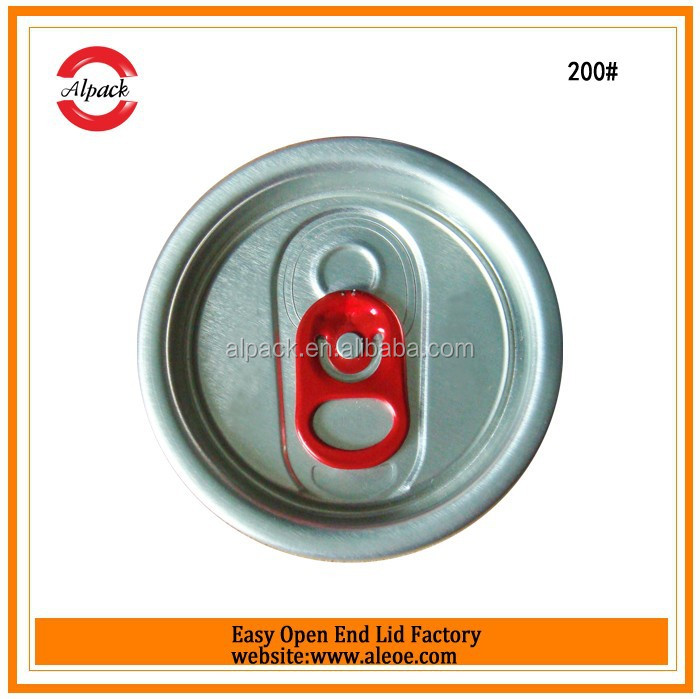 Aluminum beverage can easy open end eoe wtih colored pull tab