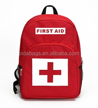 Red Backpack for First Aid Kits Pack Emergency Treatment or Hiking, Backpacking, Camping, Travel, Car & Cycling.