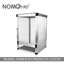 Nomo factory wholesale big aluminum alloy pet wire mesh cage for sale