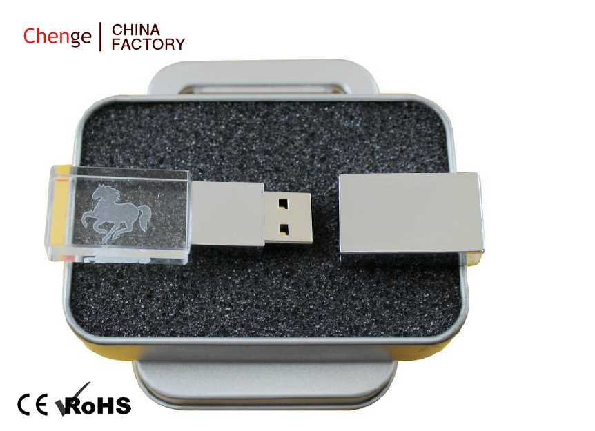 Crystal Flash Drive Character Usb Flash Memory , USB Flash Drive 500G
