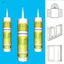 JY813 general purpose high quality one-part 280ml silicone sealants glazing gp acetic sealant