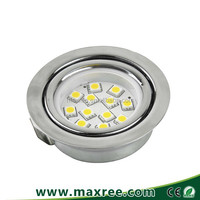 5050SMD 2.5W stainless steel recessed led downlight furniture led under cabinet lighting 12V